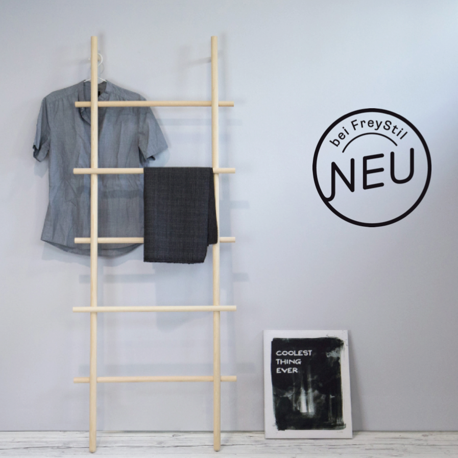 loadah s garderoben leiter handtuchhalter von kommod. Black Bedroom Furniture Sets. Home Design Ideas